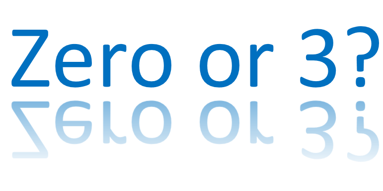 Zero or 3, which will it be?