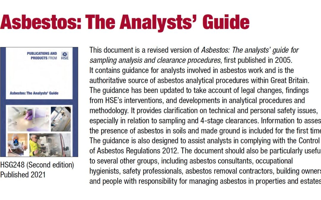 Asbestos: The Analysts' Guide HSG 248